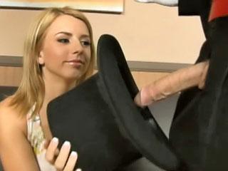 blonde huge huge cock