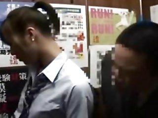blowjob elevator japanese