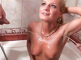 blonde pissing