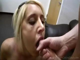 blonde casting chick