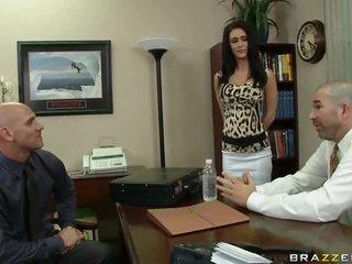 boss brunette office