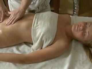 blonde body massage